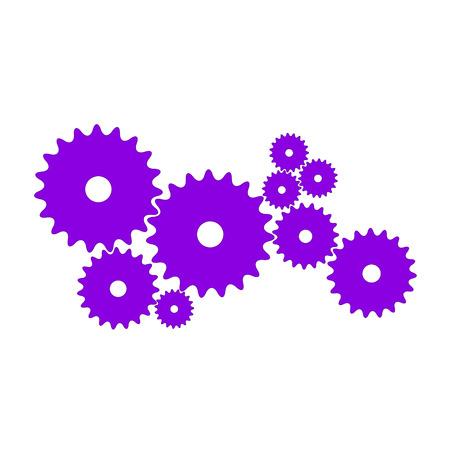 Gears in purple design Stock Vector - 105400532