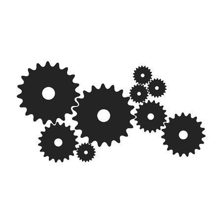 Gears in black design Stock Vector - 105400535