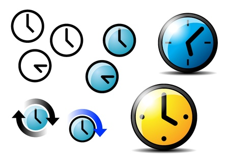 round face: The some icons of simply illustrator watches Illustration
