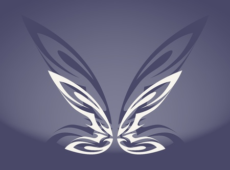 simplified: The simply picture of stylized butterfly Illustration