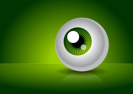 steady: The simply picture of green eye with gradient background