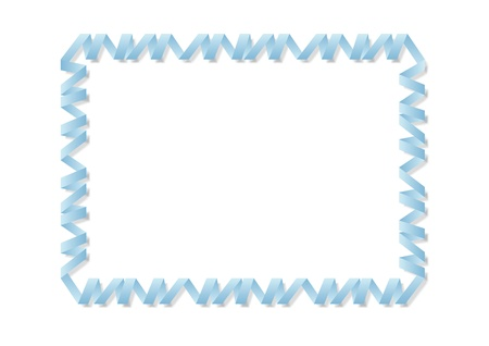 The picture of abstract blue spiral border with shadow Stock Vector - 12820833