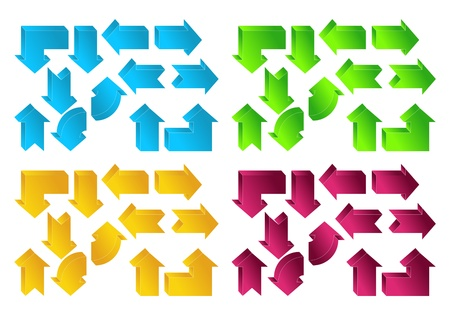 The picture set of different color arrows Stock Vector - 12946224