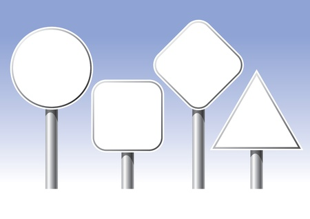 The picture of four different traffic sign Illustration