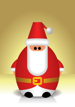 popular tale: The Santa Claus figurine as toy on gradient