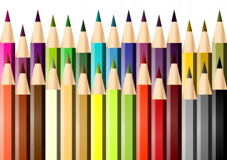 Picture of a series of colored crayons