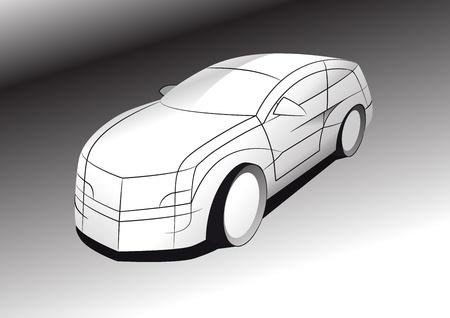 The picture of futuristic car concept