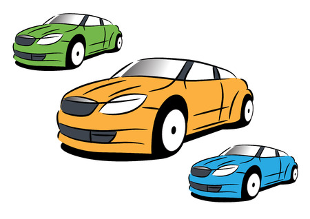 The simply vector sketch of modern sport car