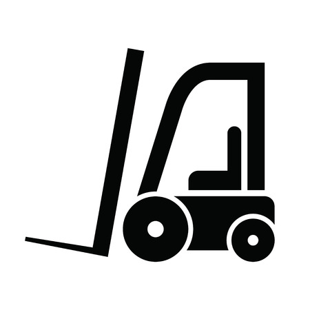 The icon of modern forklifts Illustration