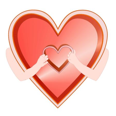 loving: Valentines symbol two loving partners