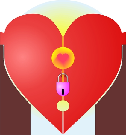 Leaving the heart under lock and key Illustration