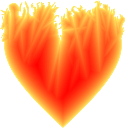 lovestruck: The hot yellow-red Valentine heart