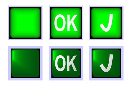 Confirmation green button suitable for various applications Vector