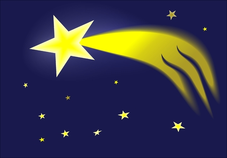 comet: Comet in the sky is a symbol of the Christmas season Illustration