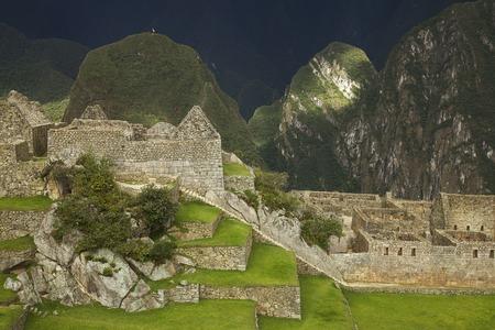 Ruins inside Machu Picchu, Peru photo