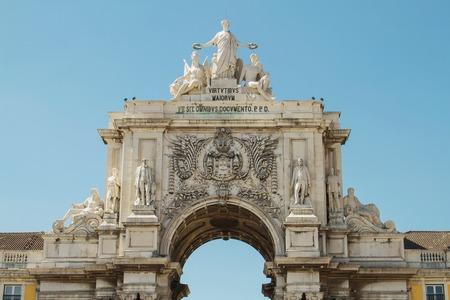 augusta: Detalle del arco de Rua Augusta, Lisboa, Portugal