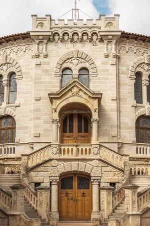 monte carlo: Entrance of the courthouse in Monte Carlo, Monaco