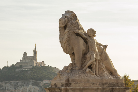 castle if: Amazing city Marseille the view from la Gare, France