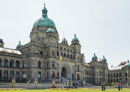 VICTORIA, BRITISH COLUMBIA, CANADA - MAY 19: Canadian Parliament Building in Victoria British Columbia