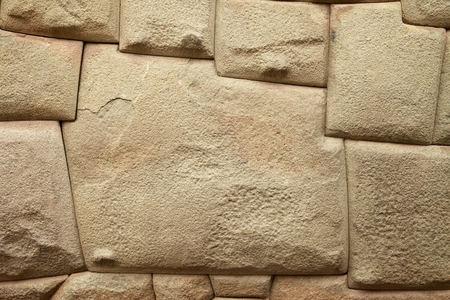 Inca Stone of 12 Angles in Cuzco Peru Фото со стока