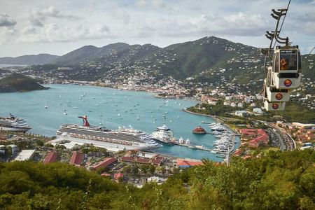 SAINT THOMAS, US VIRGIN ISLANDS - JANUARY 11, 2011: Bay and Port of St. Thomas in US Virgin Islands.