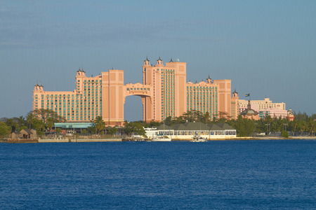 bahama: Atlantis Paradise Island Resort in Nassau, Bahamas. The Bridge Suite Located in the Span is the Most Expensive Suite in the World Costing Approximately $25,000 USD.