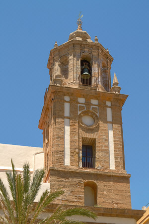 historical architecture: Detail of Historical Architecture in Cadiz, Spain. Stock Photo