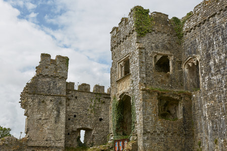 Historic Carew Castle in Pembrokeshire, Wales, England, UK Banco de Imagens