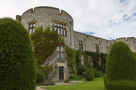 Chirk castle and its garden, Wales, England.