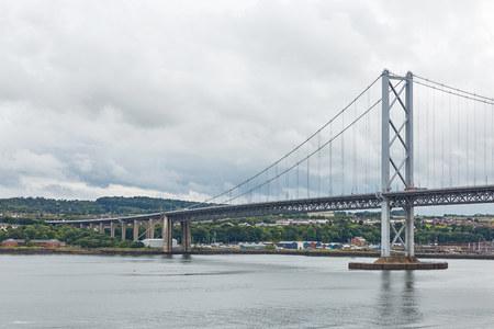 Older Forth Road bridge in Edinburgh Scotland Stock Photo