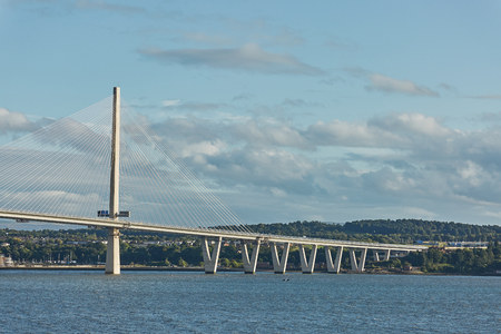 The new Queensferry Crossing bridge over the Firth of Forth in Edinburgh Scotland Stock Photo