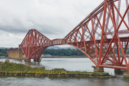 The Forth Rail Bridge, Scotland, connecting South Queensferry (Edinburgh) with North Queensferry (Fife) Stock Photo - 123489944