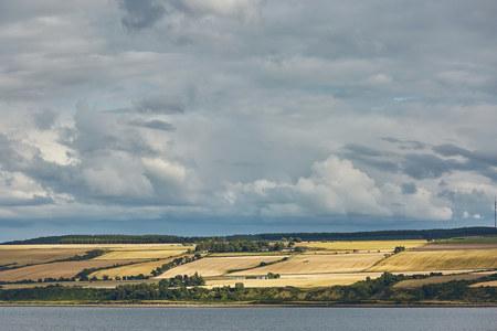 Seascape and landscape of Invergordon in Scotland, UK Stock Photo - 123490417