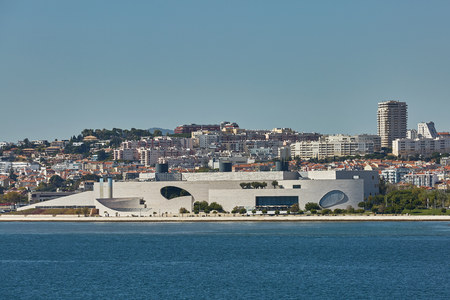 Cityline of Lisbon in Portugal over the Tagus river