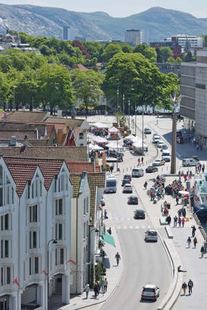 STAVANGER, NORWAY - JUNE 01, 2017: Aerial view of Stavanger in Norway. One of the most beautiful cities in Scandinavia and the oil capital of the country.