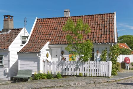 Traditional wooden houses in Gamle, which is a historic area of the city of Stavanger in Rogaland, Norway.