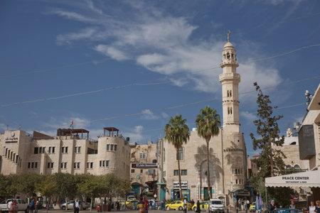 Bethlehem, State of Palestine, Israel - October 24, 2017: People and city life on the street of Bethlehem, State of Palestine.