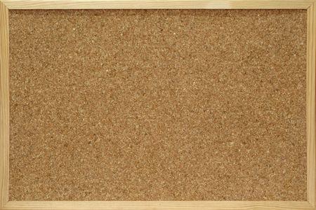 wooden insert: cork board