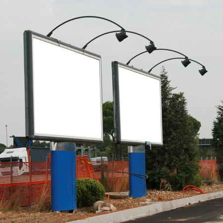 many colored: blank billboard