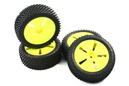 rc: rc car wheels Stock Photo