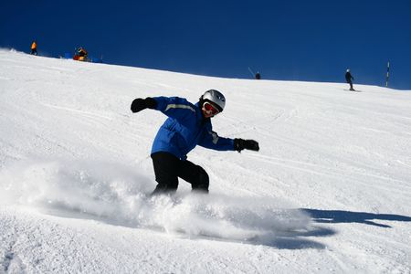 piste: ski piste panorama Stock Photo