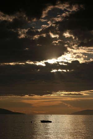 Sunset above sea Stock Photo