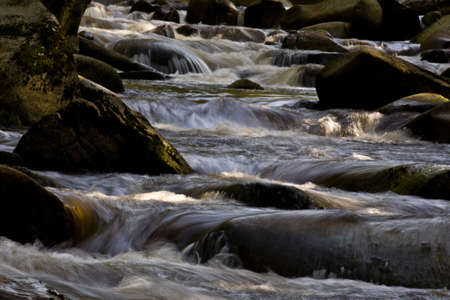 River with stones and chutes