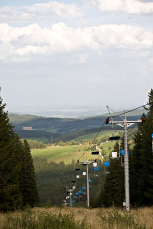 Landscape with cable railway