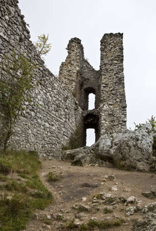 Ruins of castle on a hill Stock Photo
