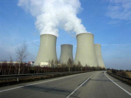 nuclear power station Temel�n Czech Republic Stock Photo - 825188