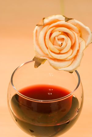 redwine: rose with red wine