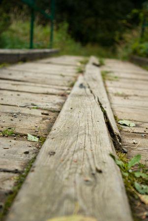 vlonder: oude footbridge  Stockfoto