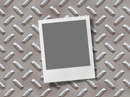 photo frame on chrome background photo