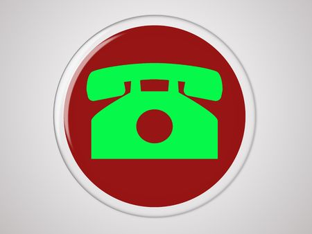 Red button with a phone for web designers photo